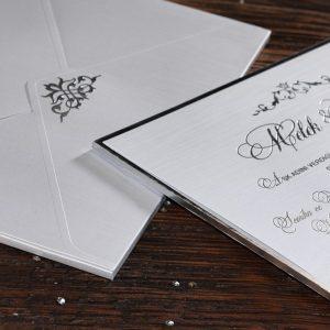 Erdem Davetiye 50551, Beyaz Renk, Gümüş Yaldızlı Davetiye