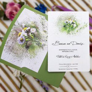 Liva Davetiye 4101, Papatya Çiçekli Davetiye