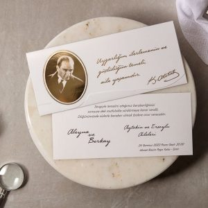 Wedding Davetiye 8290, Atatürk Resimli Davetiye